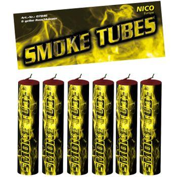 Nico Smoke Tubes Gelb - 6 Rauchfackeln je 50 Sek.