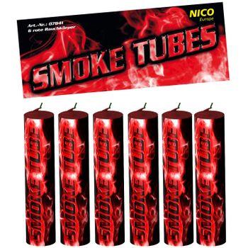 Nico Smoke Tubes Rot - 6 Rauchfackeln je 50 Sek.