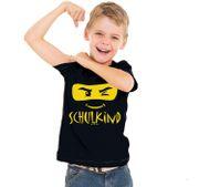 Schulkind T-Shirt ABC-Schütze schwarz mit XXL Folienballon Zuckertüte zum Personalisieren Geschenkidee Schulanfang Zuckertütenbaum Mädchen Jungen