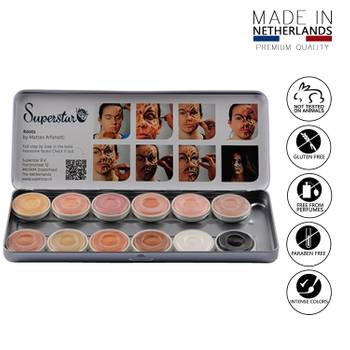 Professionelle Gesichts- und Körperschminke 12 Hautfarben Aqua Schminke