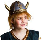 Kinder Wikingerhelm mit Haaren