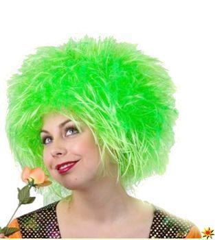 Wuschelkopf Perücke Nina, neon-grün