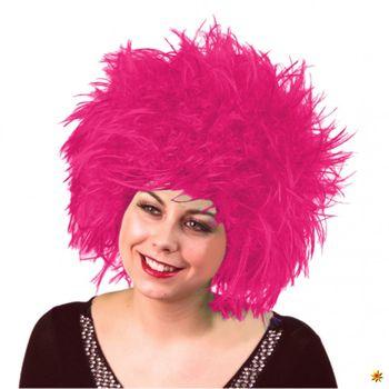 Wuschelkopf Perücke Nina, pink