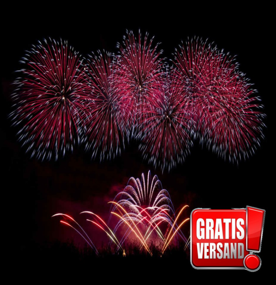 Feuerwerk Programm Sechs mit 38 Feuerwerk Batterien online kaufen Komplettfeuerwerk Hochzeitsfeuerwerk