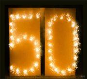 Brennende Zahlen 0 bis 9, Zahlen Lichterbild