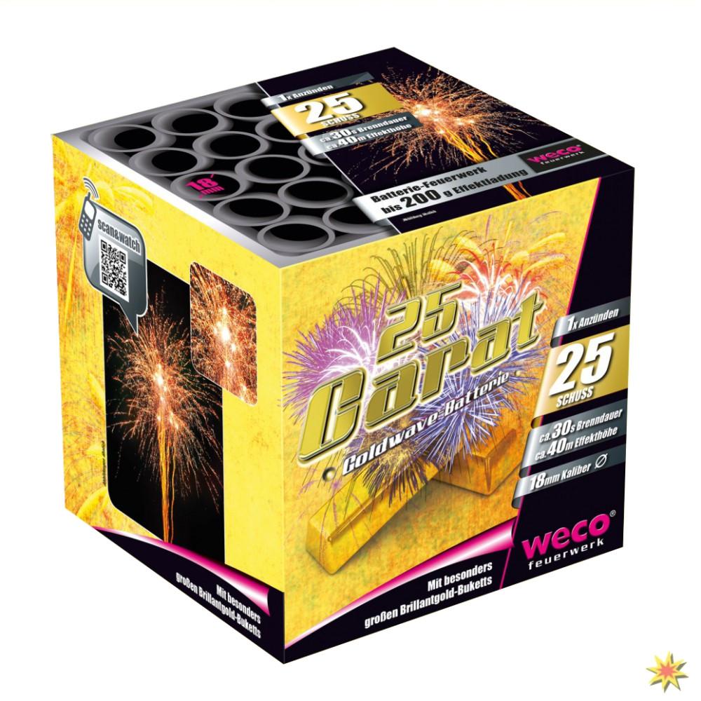 Weco 25 Carat Feuerwerk Onlineshop Geburtstagsfeuerwerk Hochzeitsfeuerwerk