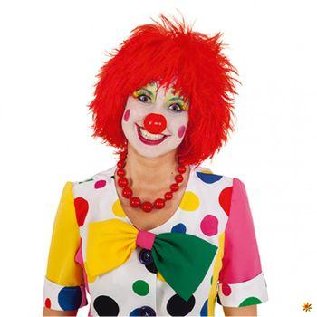 Perücke Clown rot, Witzbold, Clownsperücke