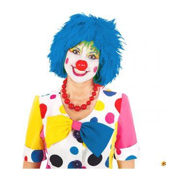 Perücke Clown blau, Witzbold, Clownsperücke