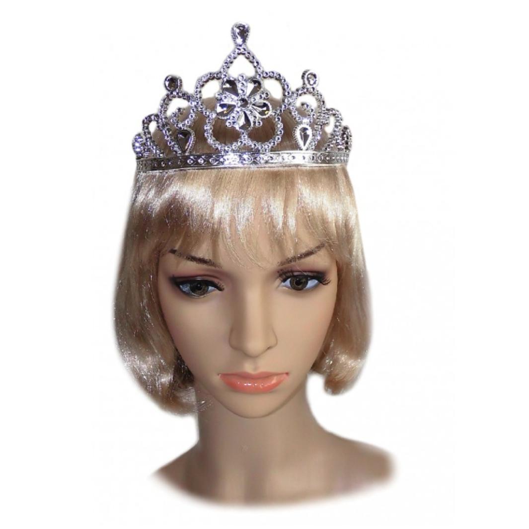 Diadem silber Prinzessin Kostüm Cindy Krone Fasching Comedy