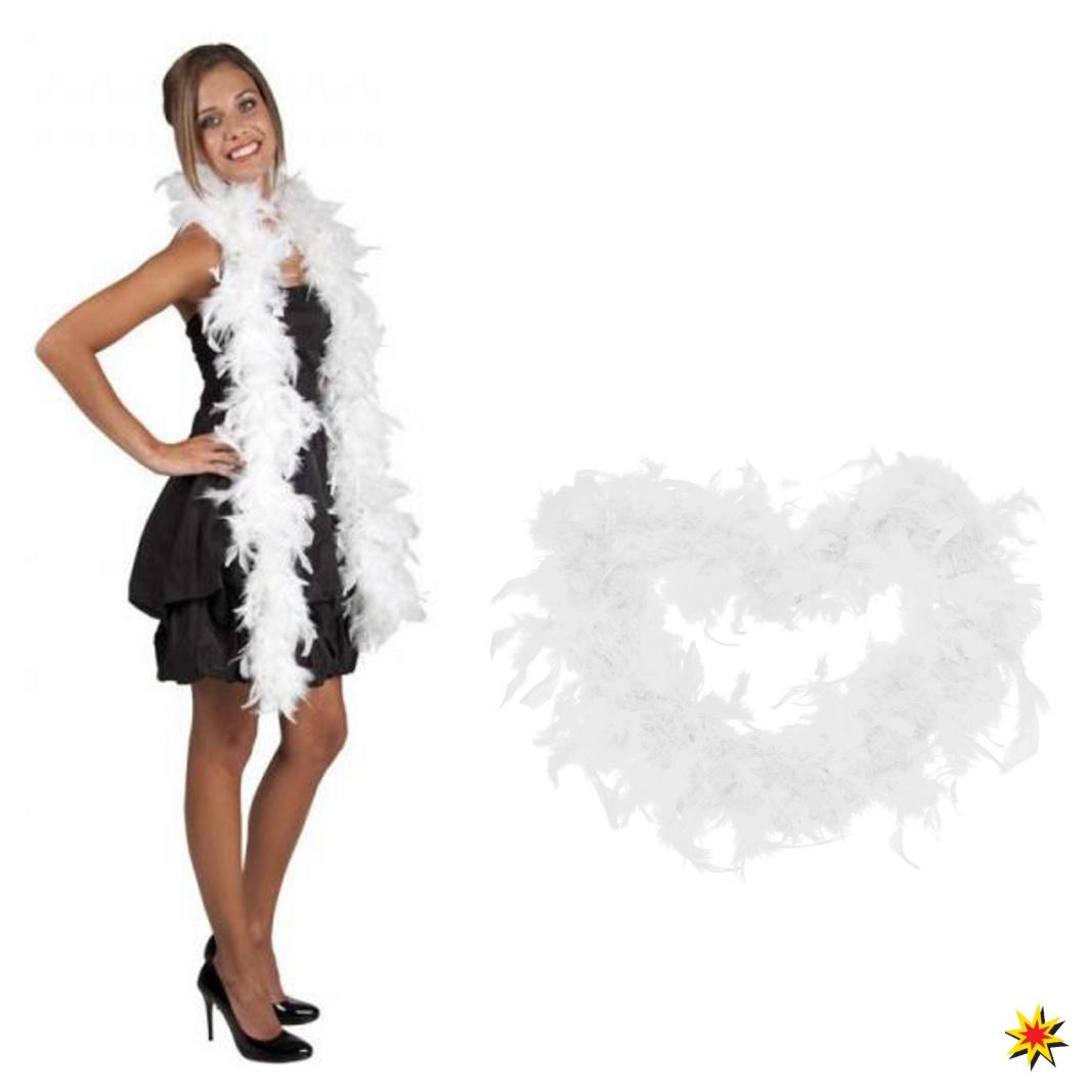 Federboa weiß 1,80cm lang Boa Kostüm Zubehör Burlesque 20er Jahre Charleston