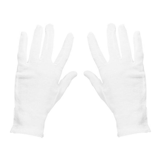 Baumwollhandschuhe Weihnachtsmann weiß Handschuhe Gr. L-XL Kostüm Zubehör Fasching