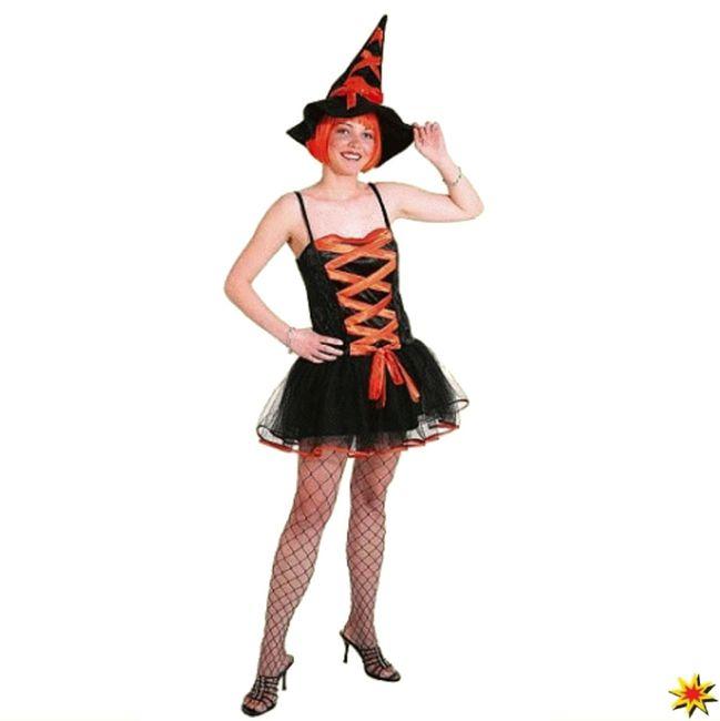 Halloween Hexen Kostüm Hexe Damen Karneval Fasching