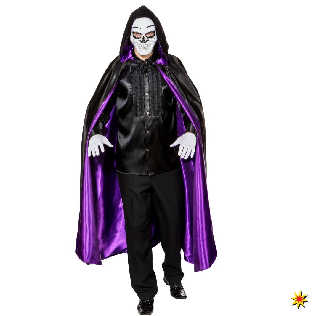 Wende Umhang für Herren schwarz/lila Fasching Halloween