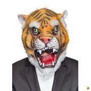 Maske Tiger, Latex Vollmaske Raubtier