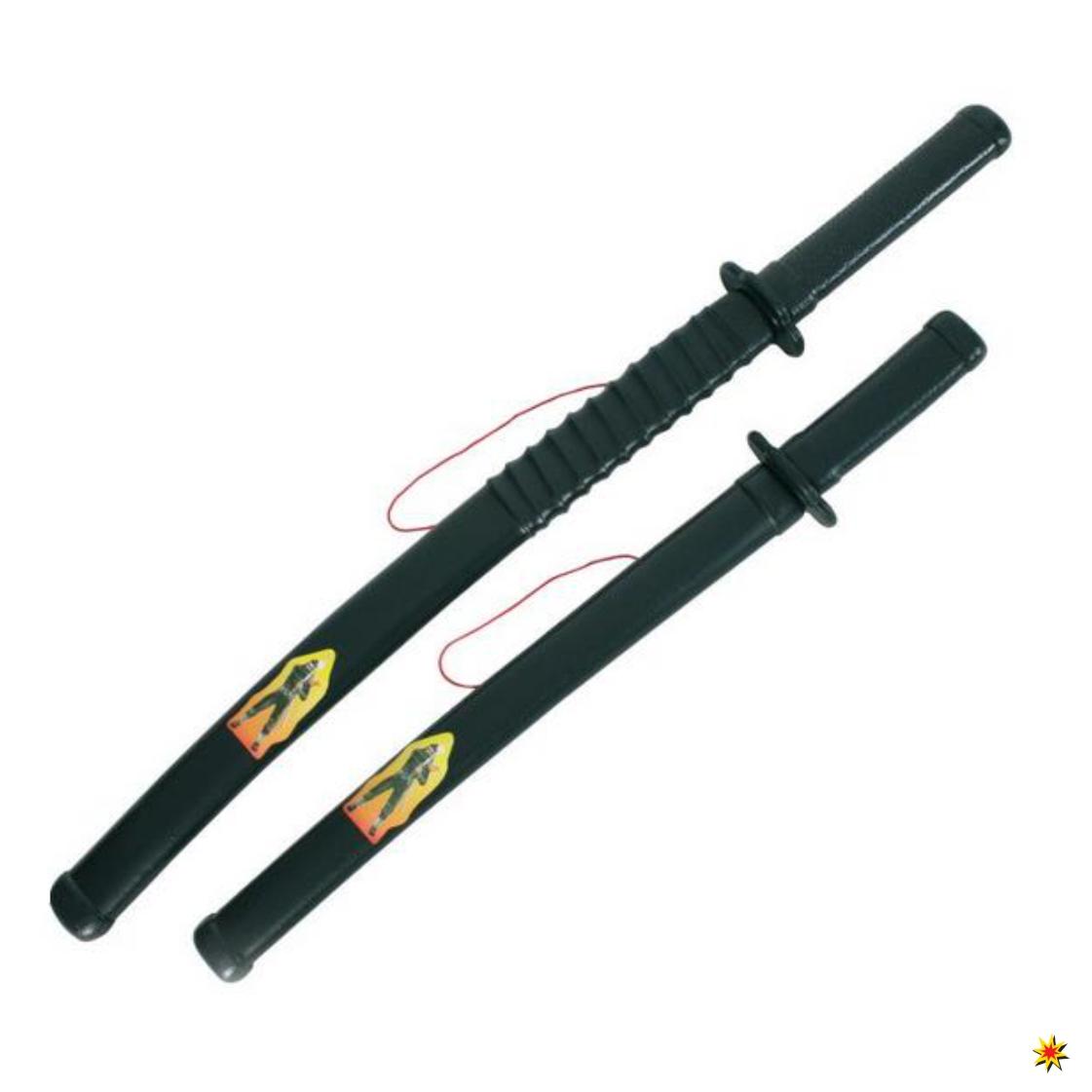 Ninja Schwerter 2 tlg. Set Kampfschwert Kostüm Zubehör Japaner Schwert 2