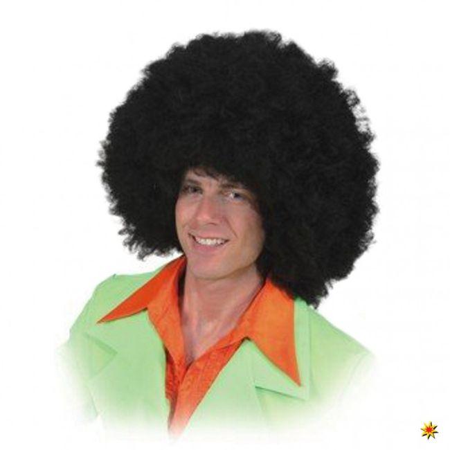 Perücke Afro Jimmy schwarz Lockenperücke Fasching Karneval JGA