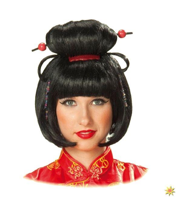 Geisha Perücke Damen Kostüm Faschingsperücke