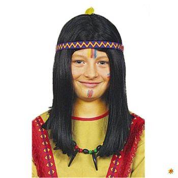 Kinderperücke Indianer Apanatschka Kostüm-Zubehör