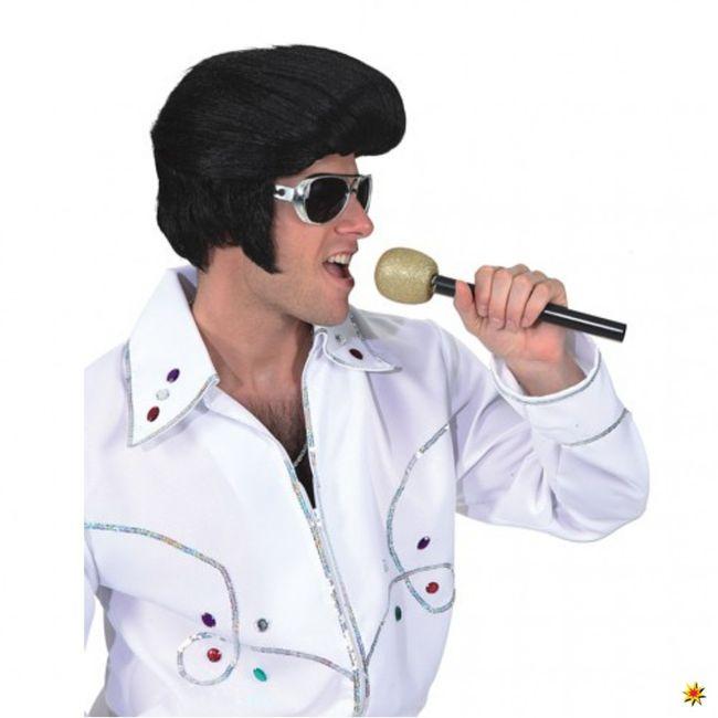 Elvis Perücke schwarz Rockstar Tolle 50er Jahre Karneval