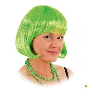 Perücke Lola hellgrün, Pagenkopf
