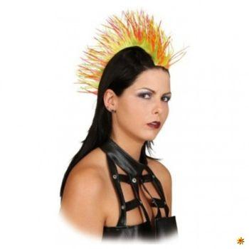 Haarteil Irokese bunt, Punker-Perücke