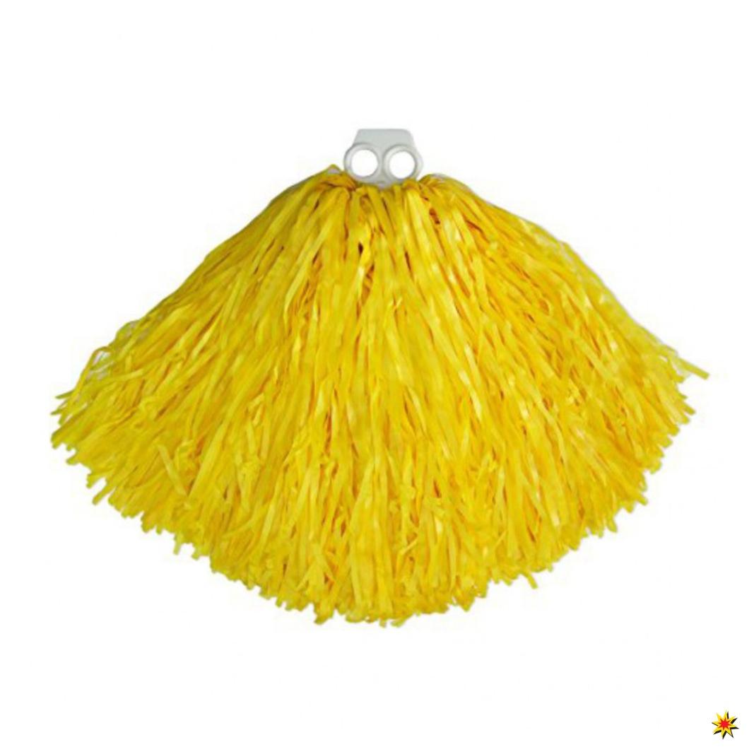 Tanzwedel gelb Kostüm Cheerleader Pompons Zubehör Tanzkostüm Fasching Karneval