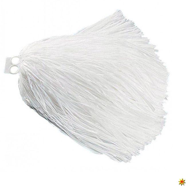 Tanzwedel weiß Kostüm Cheerleader Pompons