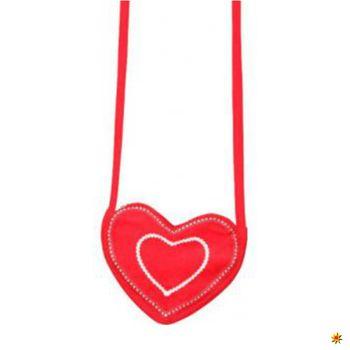 Herztasche rot, Dirndl Tasche Herz