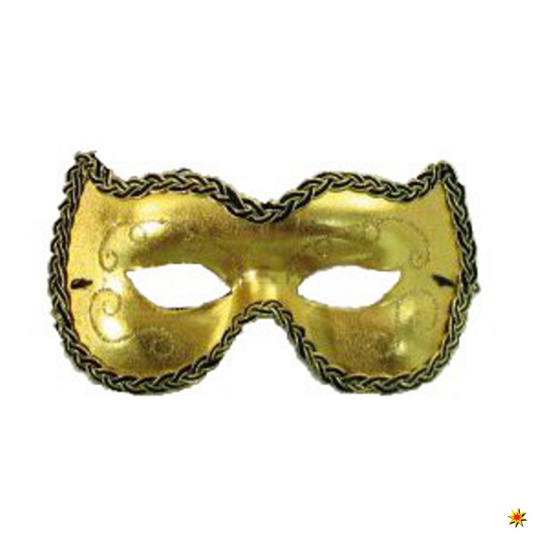 Venezianische Augen Maske Gold Karneval Venedig
