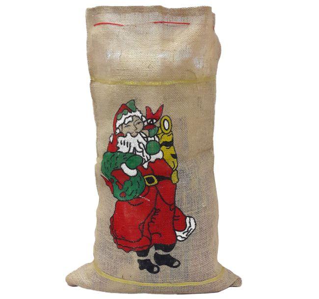 Weihnachtsmannsack bedruckt Jutesack Weihnachtsmann Kostüm Geschenkesack Sack Kostüm Zubehör