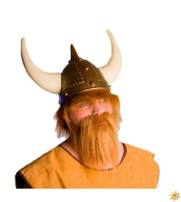 Wikinger Bart Rot Blond Herren Kostüm Zubehör Fasching