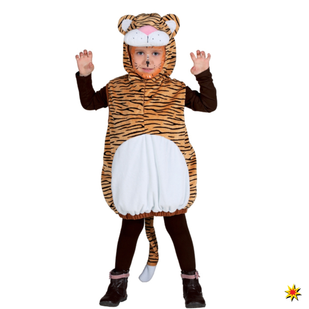 Kinderkostum Tiger Overall Wildes Tier