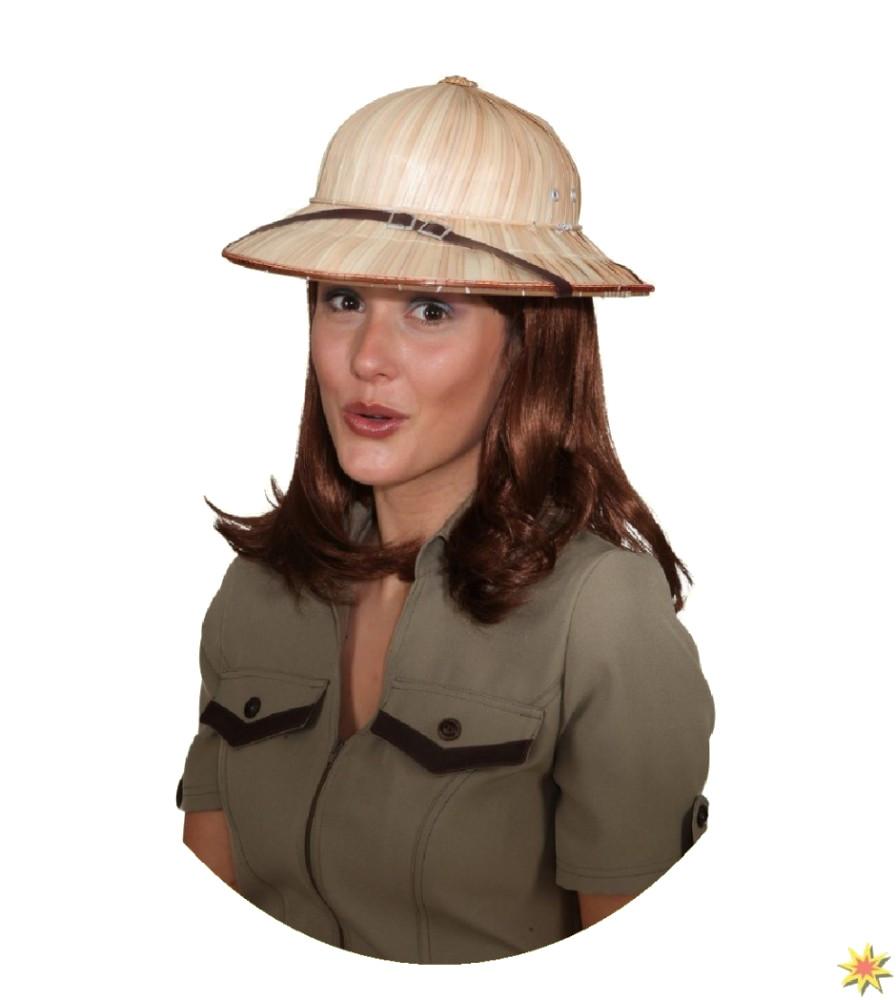 Safari Hut Stroh Dschungel Kostüm Zubehör