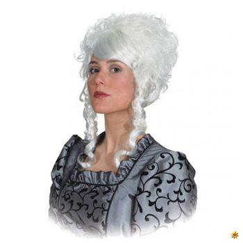 Perücke Adelsdame Lina, weiß