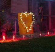 Lichterbild Brennendes Herz Bengalfeuer Feuerwerk Hochzeit Geschenkidee Geburtstag Verlobung Jubiläum