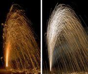 Bodenfeuerwerk Schweizer Gold/ Silber Vulkan Leuchtfeuerwerk kaufen Leises Feuerwerk