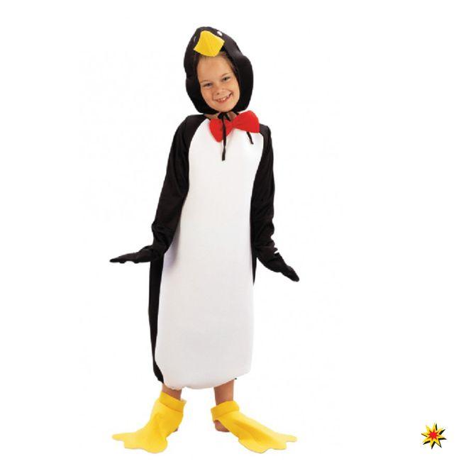 Kinderkostüm Pinguin Jungen Mädchen Overall Tierkostüm Fasching
