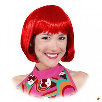 Perücke Lola rot, Pagenkopf