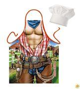 Set Grillschürze und Kochmütze Sexy Cowboy