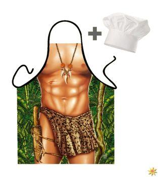 Geschenk-Set: Grillschürze Tarzan und Kochmütze