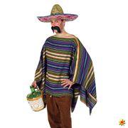 Unisex Kostüm Mexikaner-Poncho, Umhang Mexiko