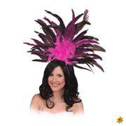 Samba Federschmuck pink, Haarreif mit Federn