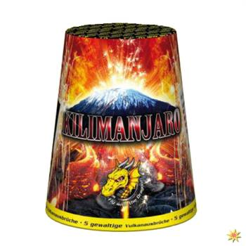 Bodenfeuerwerk Vulkan