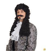 Barock Perücke Musketier D'artagnan mit Locken, Kostüm-Zubehör