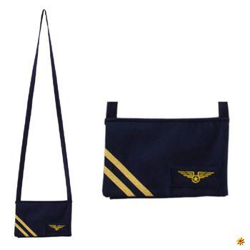 Tasche Stewardess, Umhängetasche blau