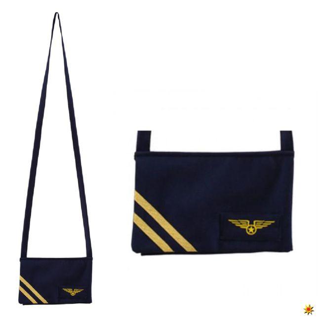 Stewardess Tasche Flugbegleitering Kostüm Zubehör
