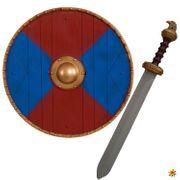Wikinger-Set rot/blau, Kinder Spielzeug
