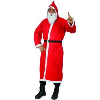 Weihnachtsmann-Set: Mantel mit Gürtel & Bart