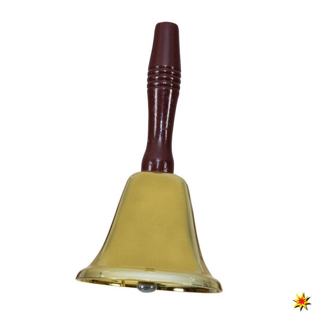 Weihnachtsmannglocke gold Metallglocke Weihnachten Nikolaus Glocke