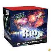 Rio - First Class Feuerwerksbatterie, 25 Schuss